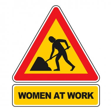 Women at work sign