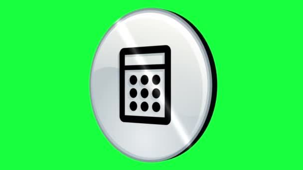 3d Animated calculator logo rotating in Green Screen (transparent background) high-resolution footage easy to use.