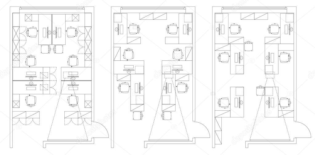 Büromöbel grafik  Büro-Möbel-Symbole-set — Stockvektor #100007470