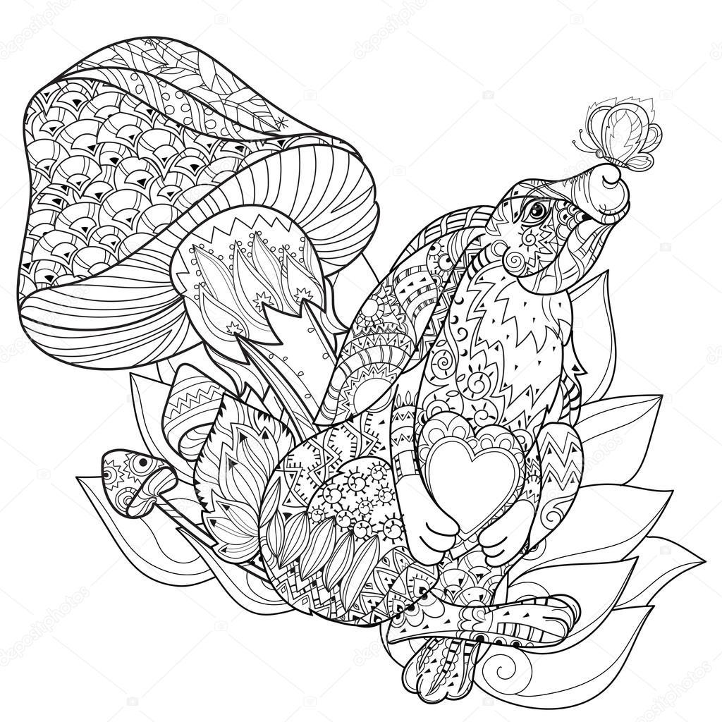 Conejo de hadas lindo vector flores — Archivo Imágenes Vectoriales ...