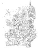 Fényképek Vector cute princess fairy girl .