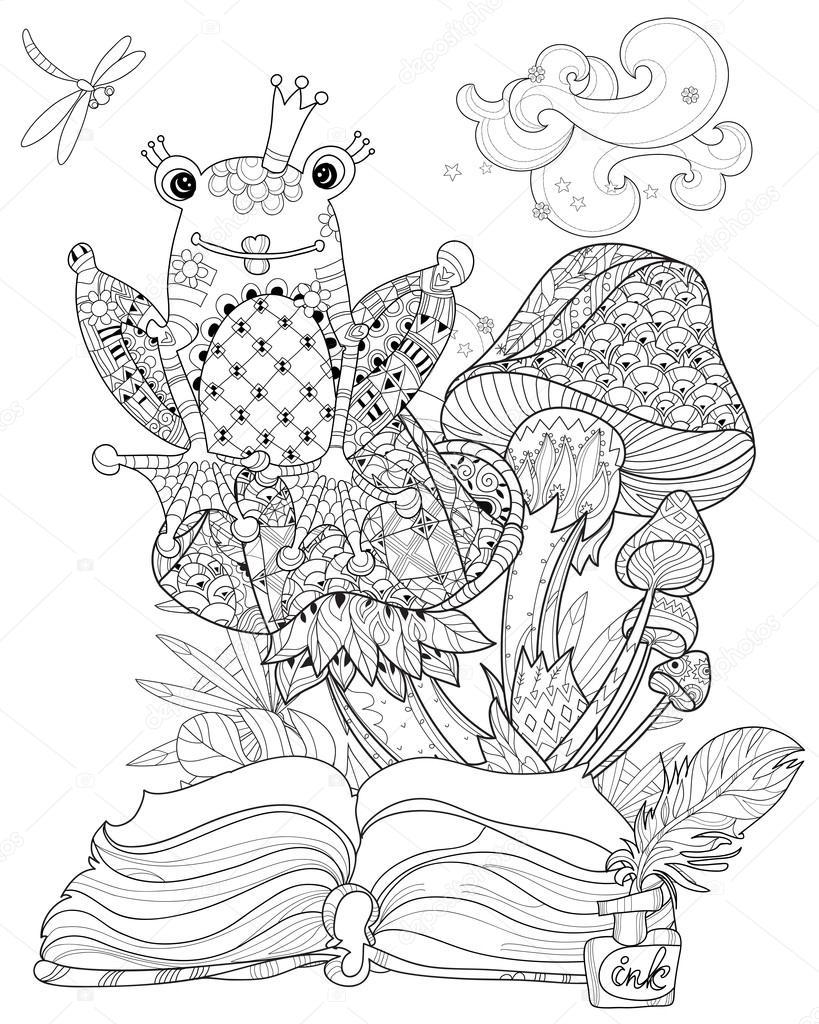Rana y dibujado a mano doodle contorno setas — Vector de stock ...
