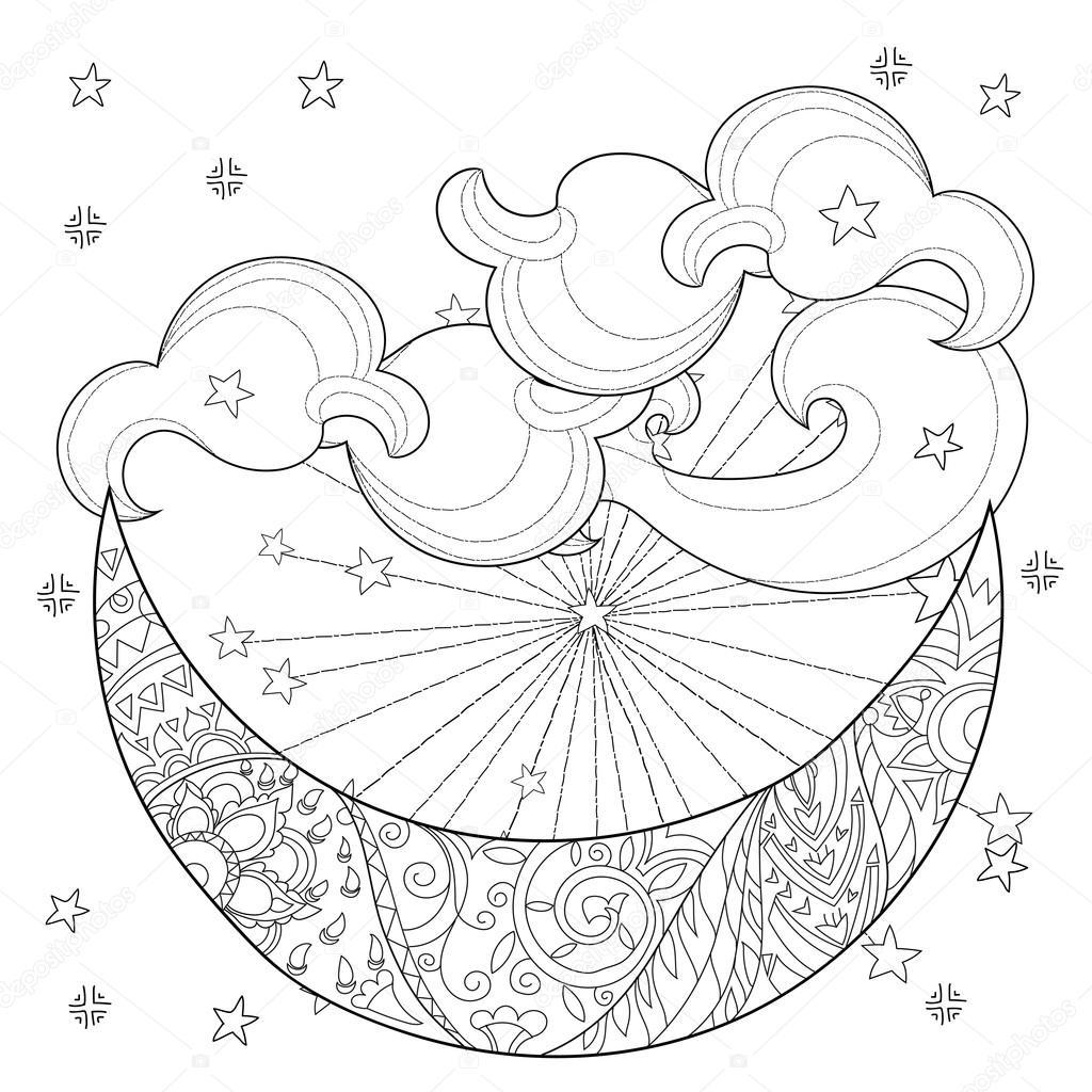 Noel Yarım Ay Yıldız Stok Vektör Yazzik 117617608