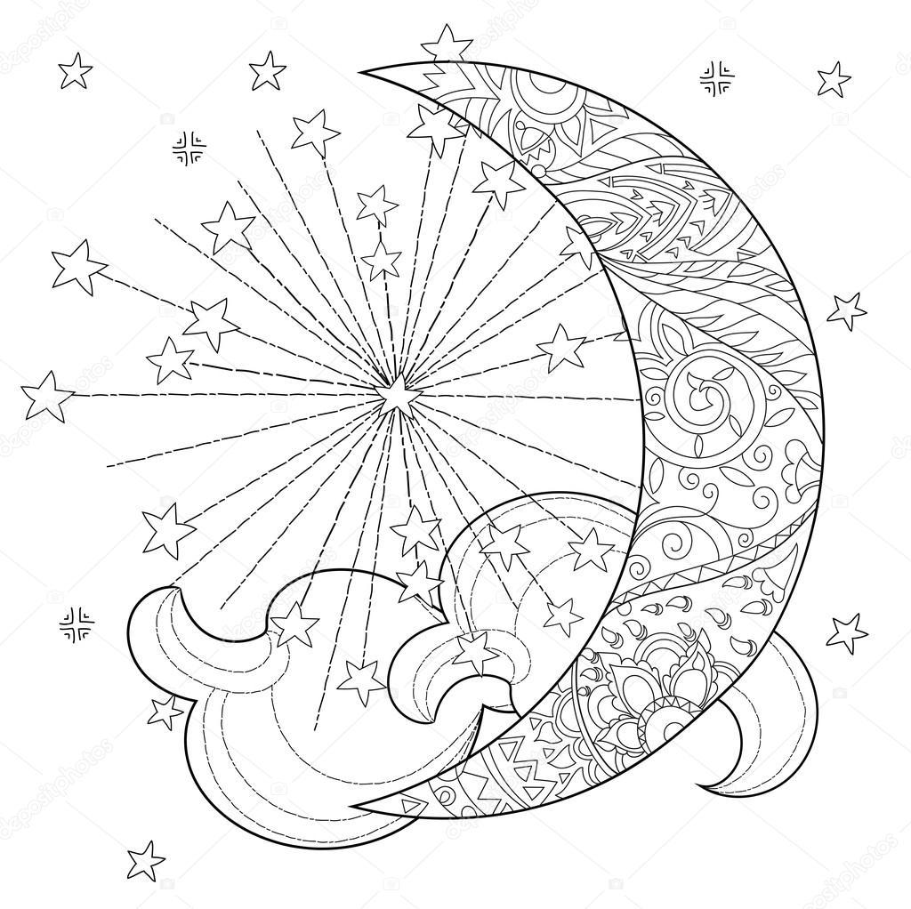 Noel Yarım Ay Yıldız Stok Vektör Yazzik 117617654