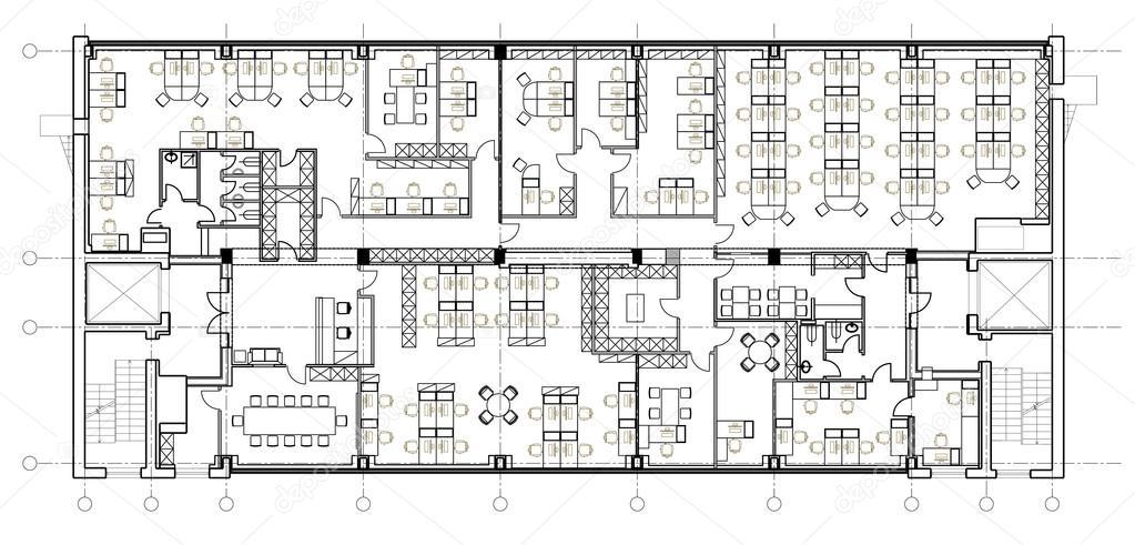 Arquitectura oficinas planos sistema de s mbolos de for Diseno de oficinas pequenas planos