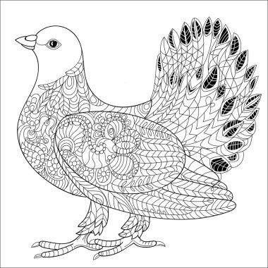 Pigeon doodle.