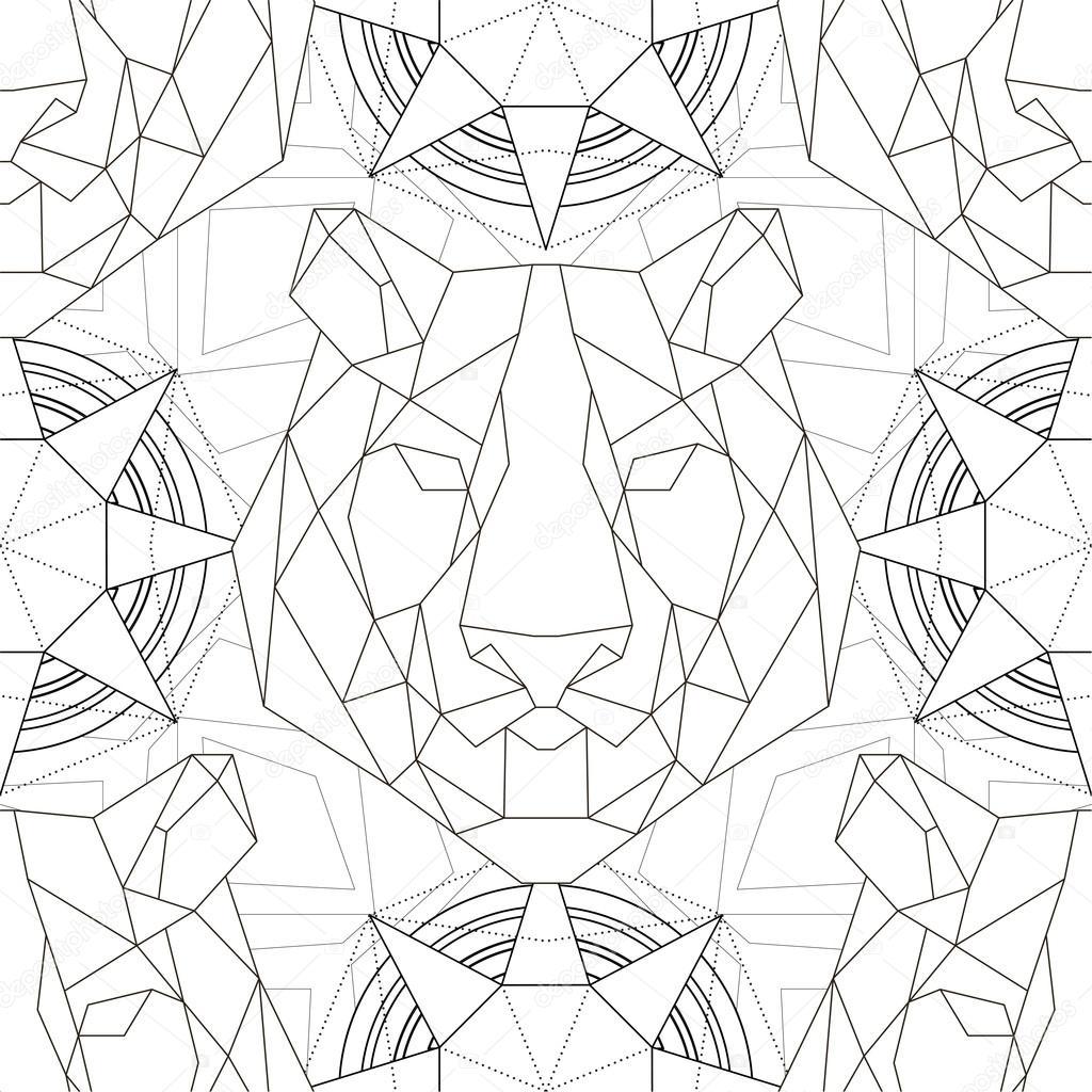 Geometrik Desen Kaplan Trendy çizgili Tema Baş Stok Vektör