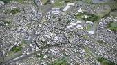 Bochum - 3D Stadtmodell Luftbildwiedergabe