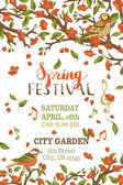 Spring festival template.