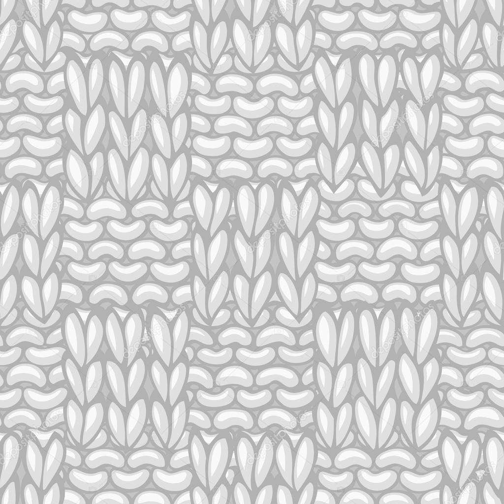 Basketweave Stitch. Seamless knitting pattern. — Stock Vector ...