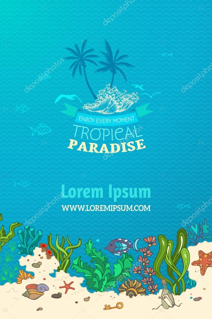 Tropical marine background.