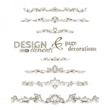 Vintage design elements and page decorations.