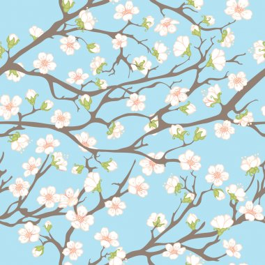 Spring background with branches and flowers for your design. stock vector