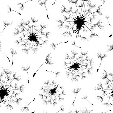 Seamless dandelion pattern.