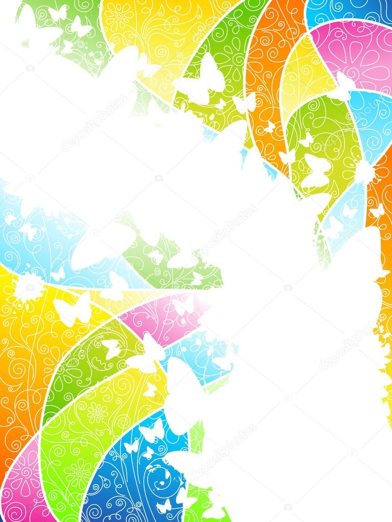 Multicolored flowery background.