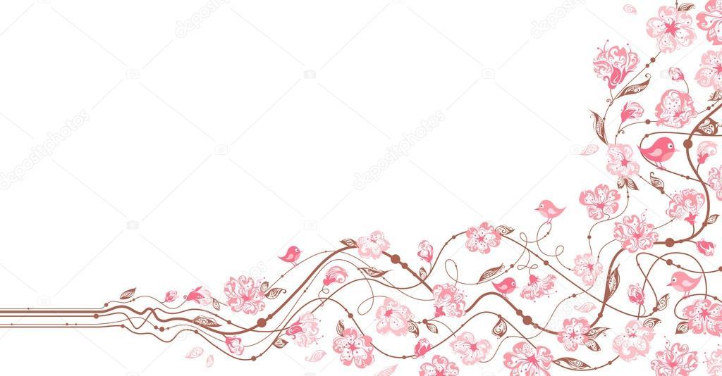 Spring floral ornament.