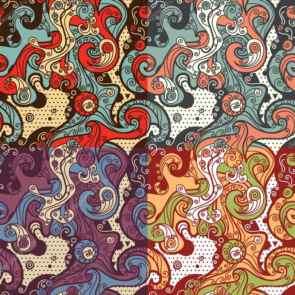patrones abstractos sin costuras — Vector de stock © Maljuk #73531373