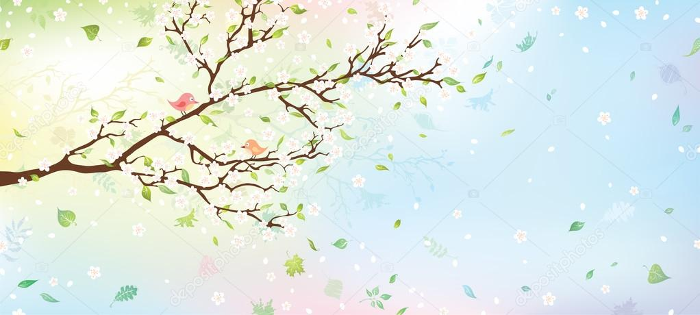 Spring tree background.