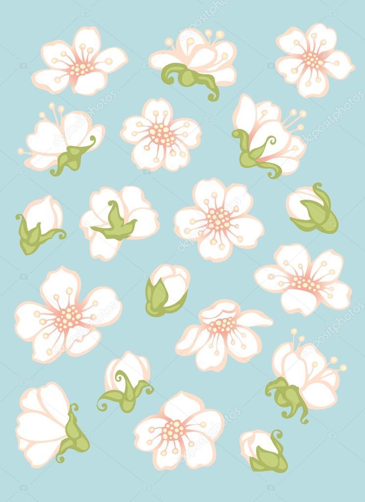 Spring flower elements.