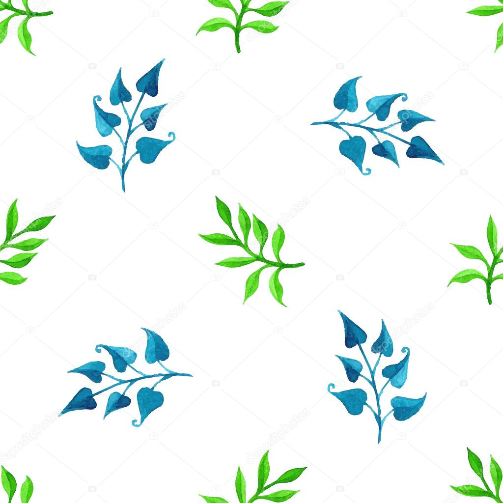 Vector seamless watercolour pattern.