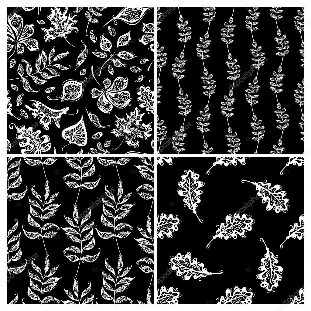 Vector set of seamless nature patterns.