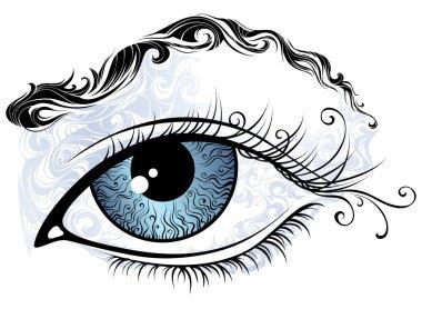 Vintage eye illustration.