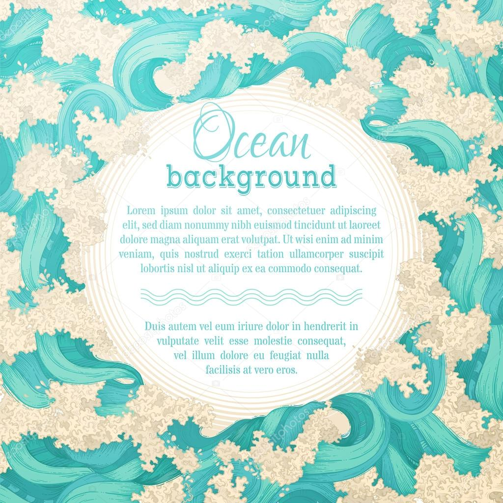 Vector ocean background.