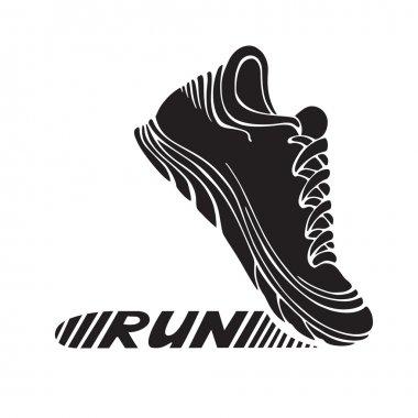 Running sport shoe symbol.