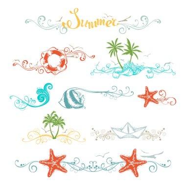 Set of summer design