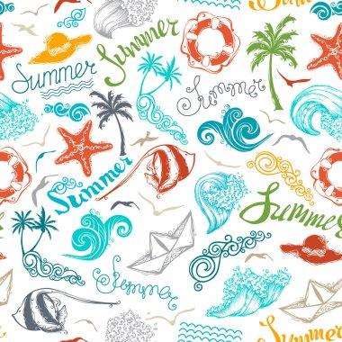 Bright seamless summer pattern.