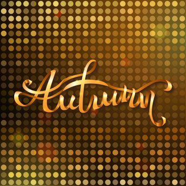 Gold autumn background