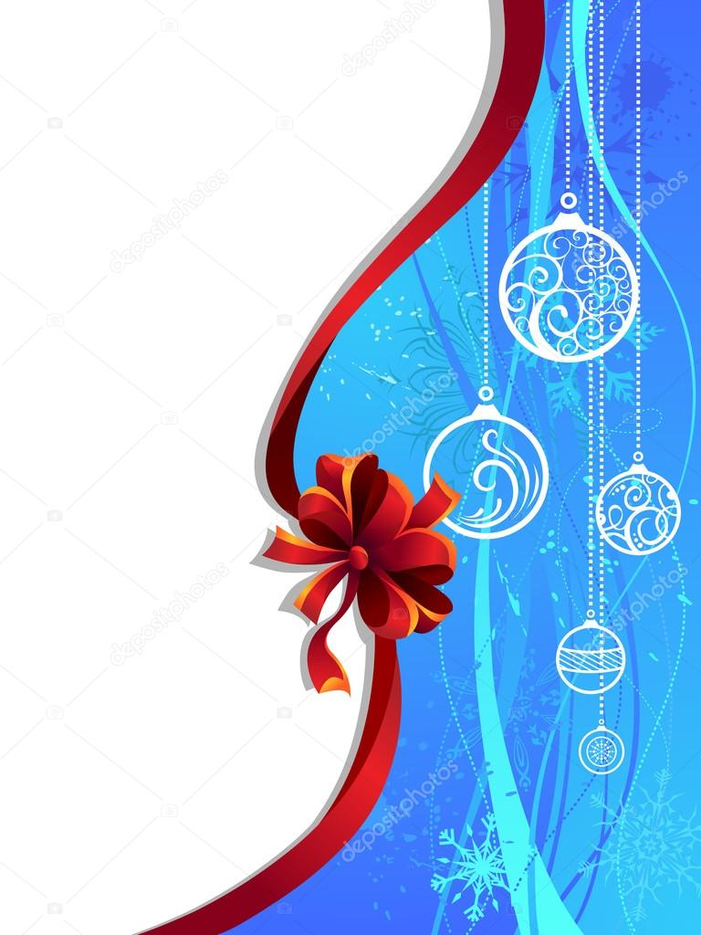 depositphotos 83574788 stock illustration blue christmas wallpaper with red