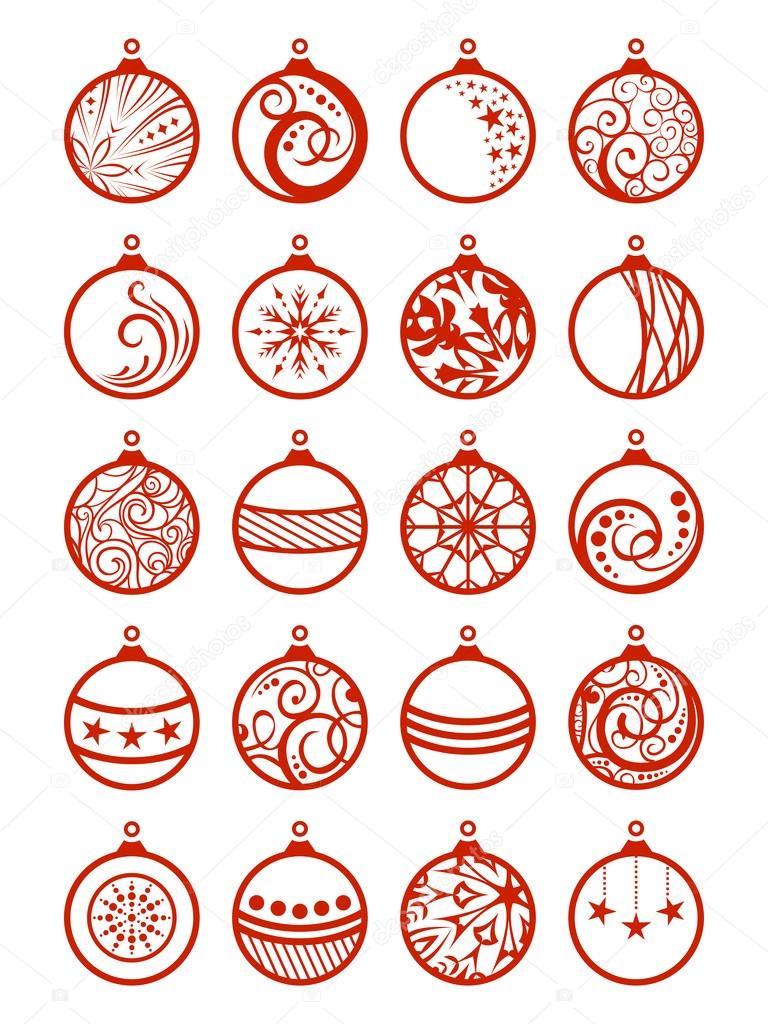 Set Di Palline Di Natale Vettoriali Stock C Maljuk 83574796