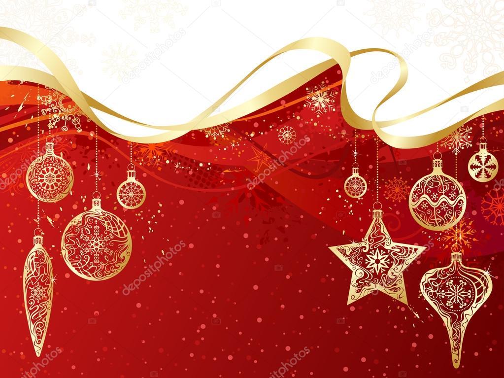 Sfondi Natalizi Oro.Sfondo Natale Rosso Sfondo Di Natale Rosso E Oro Vettoriali