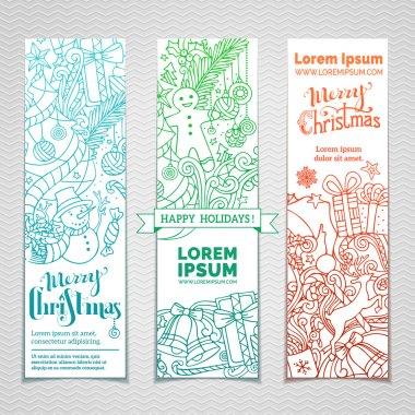 doodles Christmas banners.
