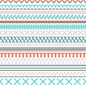 Fotografie Seamless embroidery pattern.