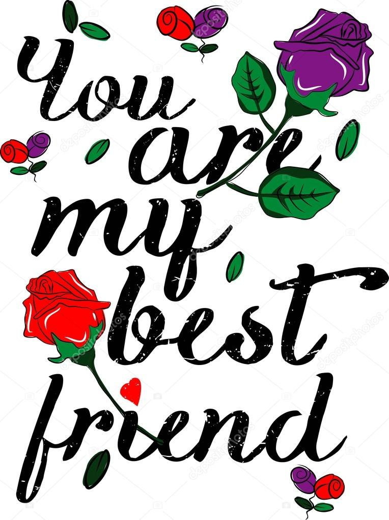 You Are My Best Friend Vectors Design For T Shirts Stock Vector