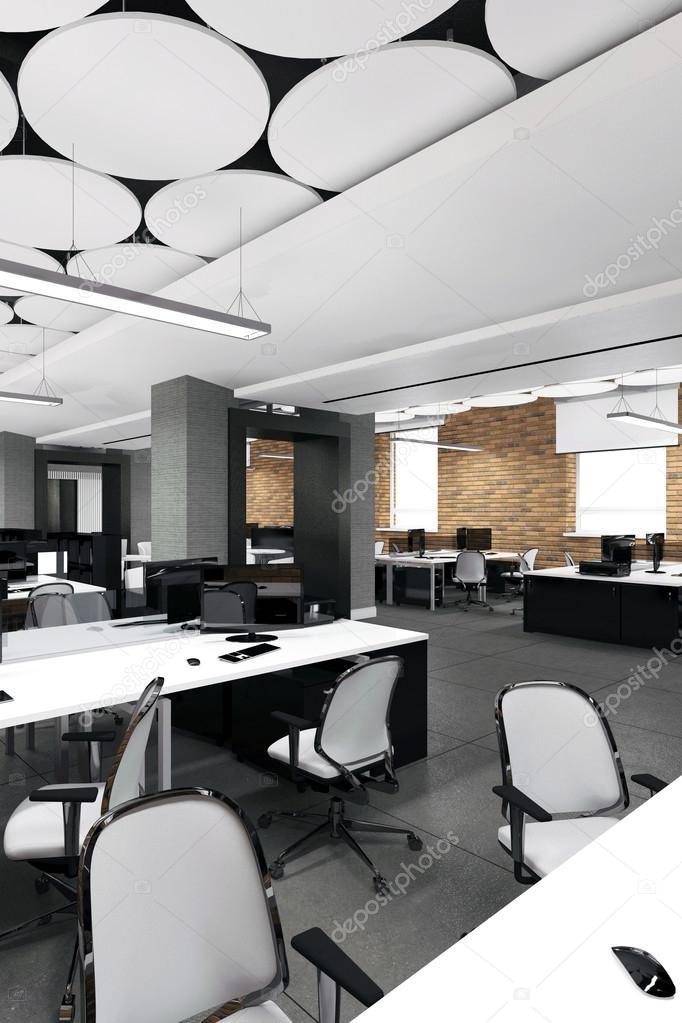 Leere Moderne Buro Innen Arbeitsplatz Stockfoto C Iegor S 114871952