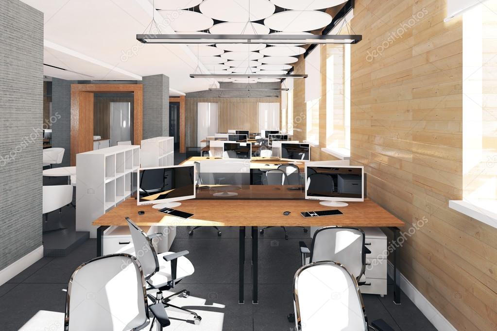 Leere Moderne Buro Innen Arbeitsplatz Stockfoto C Iegor S 114872390