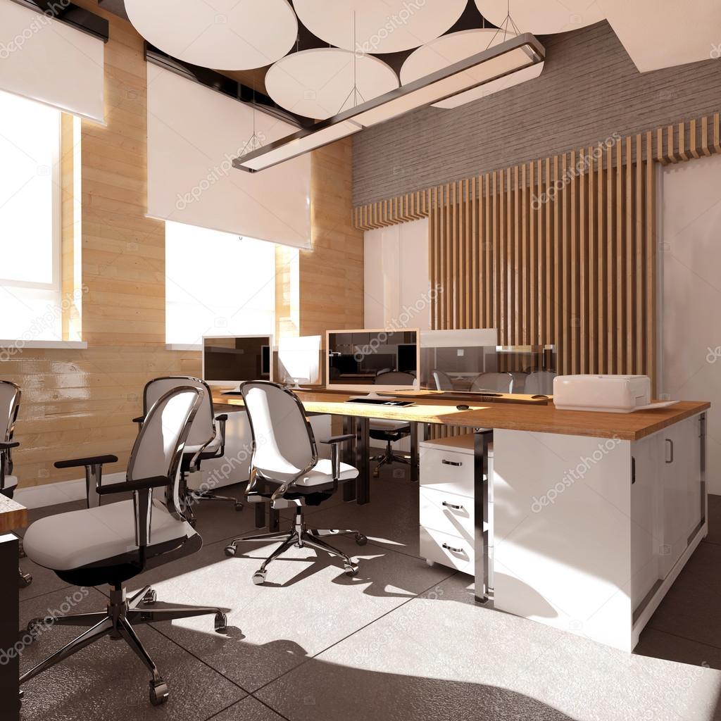 Leere Moderne Buro Innen Arbeitsplatz Stockfoto C Iegor S 114874504