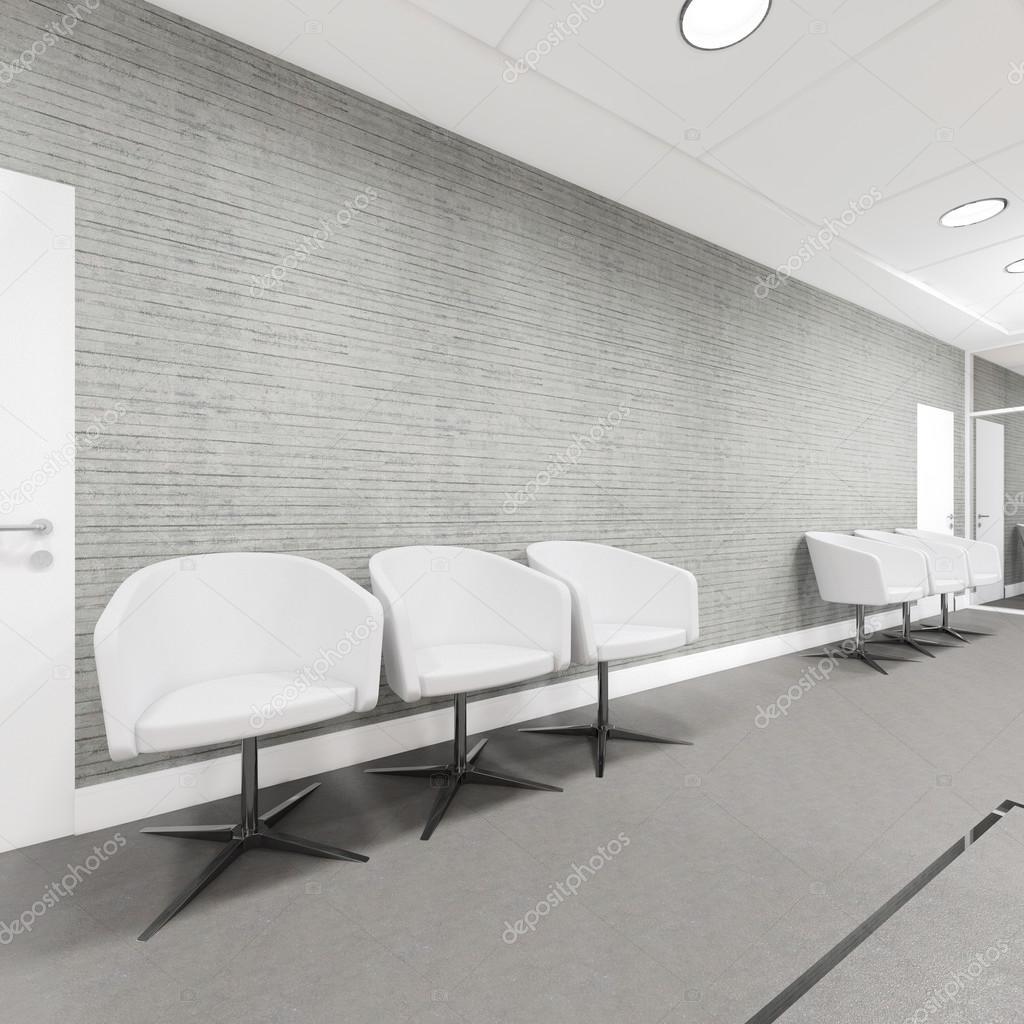 Büro Eingangsbereich Interieur Mit Sessel Stockfoto Iegors