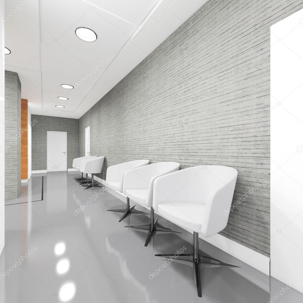 Intérieur de zone d\'entrée du bureau avec fauteuil ...