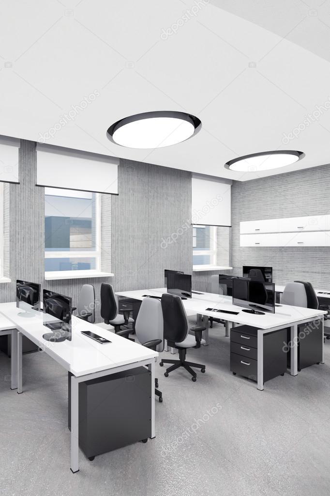 Leere Moderne Buro Innen Arbeitsplatz Stockfoto C Iegor S 89631110