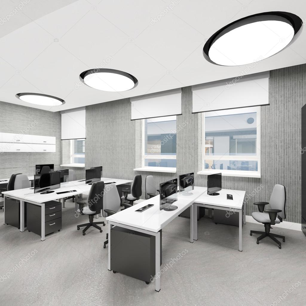 Leere Moderne Buro Innen Arbeitsplatz Stockfoto C Iegor S 89631132