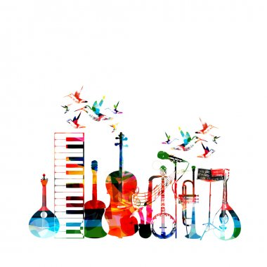 Colorful musical instruments