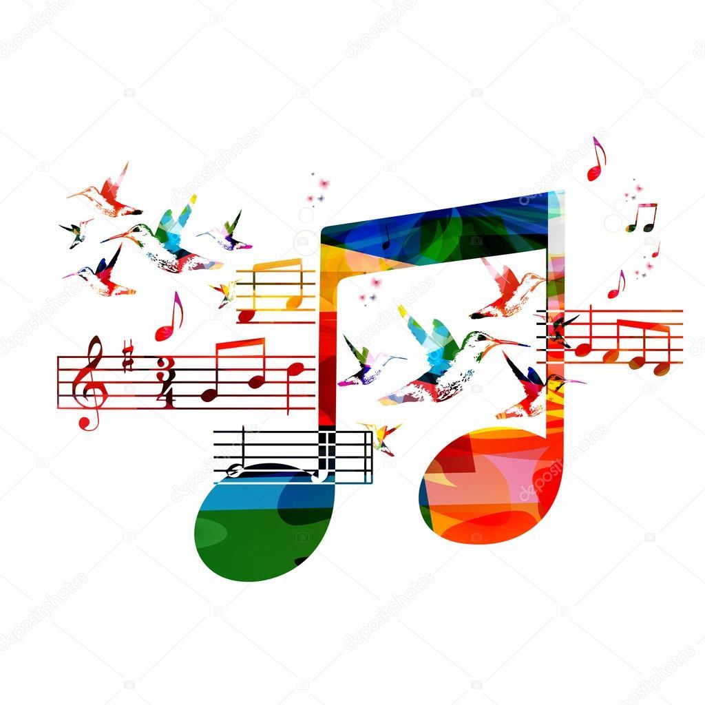 bunte musik noten hintergrund  vektorgrafik lizenzfreie