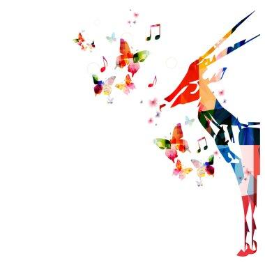 Colorful gazelle background