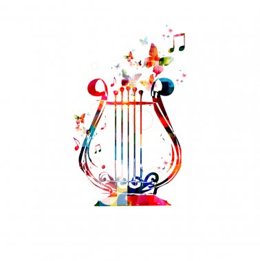 Colorful lyre design