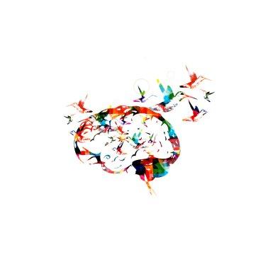 Brain vector background