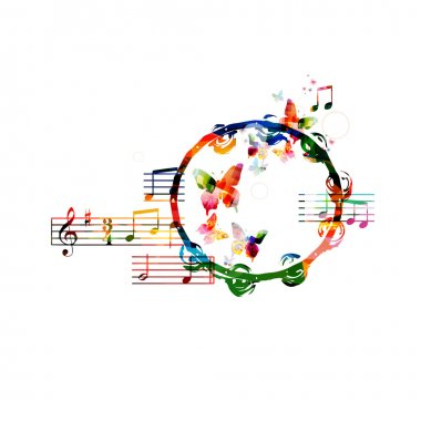 Colorful tambourine background